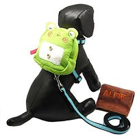 Alfie Pet By Petoga Couture - Cara Backpack Harness With Leash And Microfiber Fast-Dry Washcloth Set - Style: Green Frog