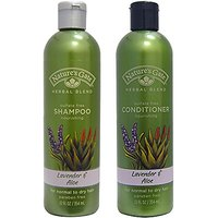 Natures Gate Herbal Blend Shampoo And Natures Gate Herbal Blend Conditioner Bundle For Normal To Dry Hair With Lavender