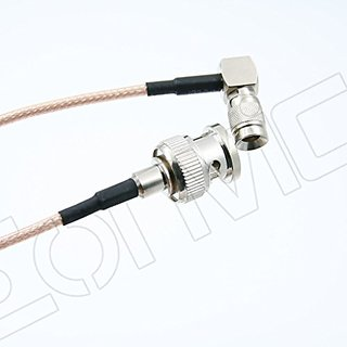 Eonvic BNC Male to Right Angle DIN1.0/2.3 RG179 Coax 75ohm SDI Pigtail Blackmagic Cable 15cm