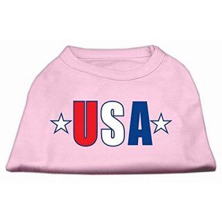 Mirage Pet Products USA Star Screen Print Shirt, 3X-Large, Light Pink