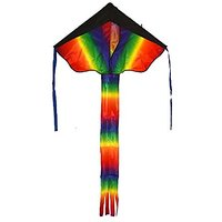 PGXT Huge Rainbow Kite For Kids - One Of The Best Selling Toys For Outdoor Games Activities - Good Plan For Memorable Su