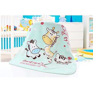 Animal Design Printed Double Sides Thick Mink Fleece Super Soft Baby Toddler Boys Girls Children Blanket Throw (Medium,