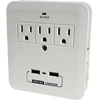 Stellar Labs Power + 3 Outlet Dual USB Surge Protector