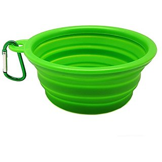 Yueton Pet Travel Water Bowl Expandable / Collapsible Silicone Food & Water Travel Bowl with Carabiner Belt Clip for Dog