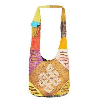 Mandala Tibetan Shop Endless Knot Eternity Knot Handmade Shoulder Bag, Monk Bag, #15