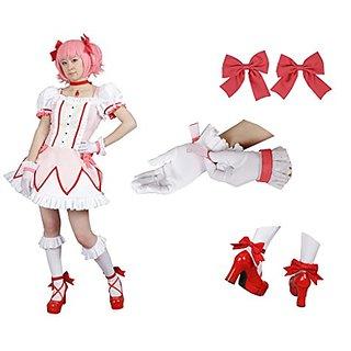 Milica Books Puella Magi Madoka Magica Madoka Kaname Cosplay Costume Size L