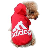 Starsource Dogs Cats Pet Cotton Warm Clothes Hoodie Coat Puppy Apparel Shirt Sport Clothing Outwear Apparel Costume(Red)