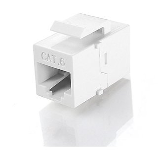 TNP RJ45 Keystone (5 Pack) - Cat6 Cat5e Cat5 Compatible 8P8C Ethernet Network Jack Insert Snap In Adapter Connector Port