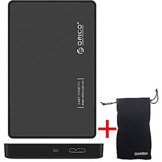ORICO SSD Case Enclosure USB 3.0 Tool Free 2.5 inch 2588US3 SATA III II I Hard Drive Enclosure for SSD / HDD such as Kin