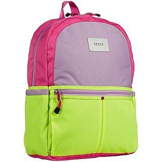 STATE Girls Kane Backpack, Pink/Lemon, Small