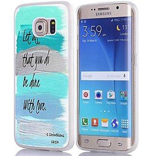 S6 Edge Case Christian Quotes, Samsung Galaxy S6 Edge Bible Verses Blue Art
