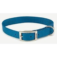 Coastal Pet Products DCP90120BLU Nylon Single Dog Collar, 1 By 20-Inch, Blue