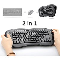 Mini Wireless Keyboard, Oley 2.4 GHz 2in1 Wireless Mouse Keyboard Computer TV Box Remote Control Support PC/Xbox 360/PS3