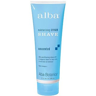 Alba Unscented Moisturizing Shave Cream, 8 Ounce -- 6 per case.