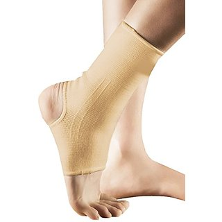 Shop Flash 2 Piece Anti Tendonitis Pain Relieving Compression Ankle Sleeve for Men, Beige, Large, 0.09 Pound