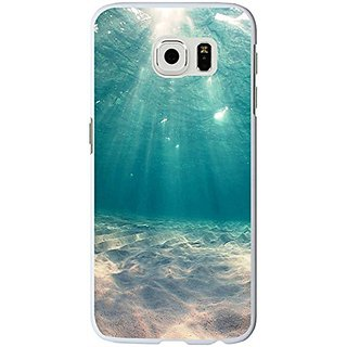 S6 Edge Case, Samsung Galaxy S6 Edge Case blue clean ocean water