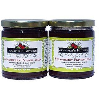 Jennifers Kitchen Strawberry Pepper Jelly (Pack of Two)