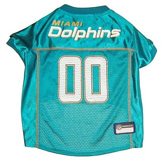 Miami Dolphins Dog Jersey - Orange Trim