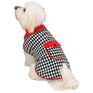 East Side Collection Polyester Reversible Houndstooth Coat, XX-Small