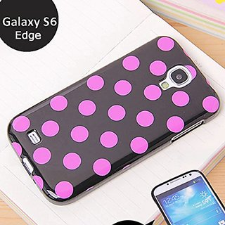 Galaxy S6 Edge Polka Case, ANLEY Polka Fashion Series - Jelly Silicone Case Soft Cover with Polka Dots for Samsung Galax