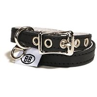 Buddy Belts Classic Collection Pet ID Collar, 1/2 By 14-16-Inch, Black