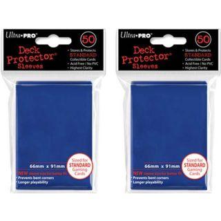 (100x) Ultra PRO Blue Deck Protectors Sleeves Standard MTG Colors