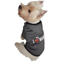 Ruff Ruff And Meow Dog Hoodie, I Love My Mommy, Black, Extra-Large