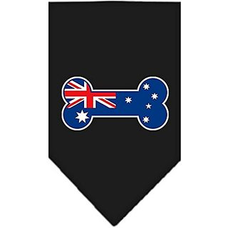 Mirage Pet Products Bone Flag Australian Screen Print Bandana for Pets, Small, Black