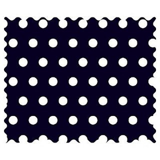 SheetWorld Polka Dots Navy Fabric - By The Yard