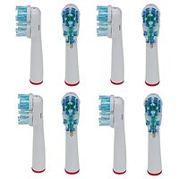 Generic Oral-b Dual Clean Replacement Brush Heads For All Braun Rechargeable Rotation Toothbrush Handle .(8pcs)