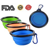 ME.FAN™ Travel Collapsible Dog Bowl Portable Dog Bowl Silicone Pop-Up Travel Bowl Dog Food Bowl Dog Water Bowl Sil