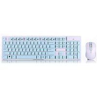 SROCKER X150 Compact 2.4GHz Wireless Whisper Quiet Waterproof Keyboard And Mouse Combo With Chocolate Keys And Nano Rece