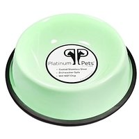 Platinum Pets Platinum Pets 3-Cup Non-Embossed Non-Tip Dog Bowl, Winter Mint