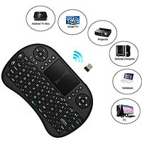 Wireless Keyboard - I8 Black Mini Mobile Wireless Multimedia Keyboard With Touchpad Mouse For Google Android Devices Sma