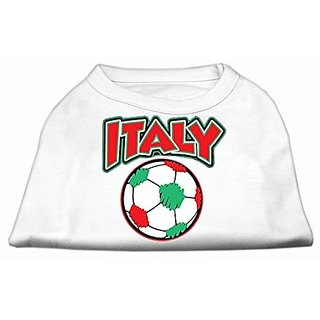 Mirage Pet Products Italy Soccer Screen Print Shirt, XX-Large, White