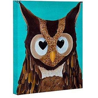 DENY Designs Mandy Hazell Owl Love You Art Canvas, 24