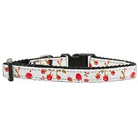 Mirage Pet Products Roses Nylon Ribbon Collar For Pets, Small, Red