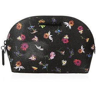 Rebecca Minkoff Izzie Cosmetic Case, Black Floral, One Size