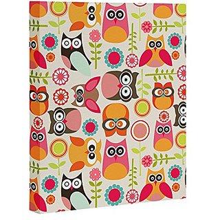 DENY Designs Valentina Ramos Cute Little Owls Art Canvas, 16
