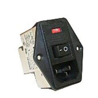 Interpower 83545020 Five Function Medical Grade Module, C14 Inlet, Switch, Double Fused, Voltage Selector, Filter, 10A C