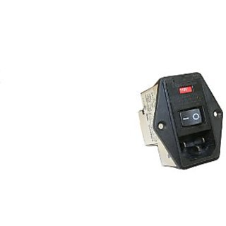 Interpower 83545010 Five Function Screw Mount Module, C14 Inlet, Switch, Double Fused, Voltage Selector, Filter, 10A Cur