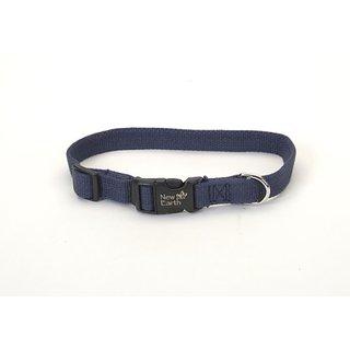 New Earth Soy Dog Collar, .375-Inch Wide, Indigo Blue