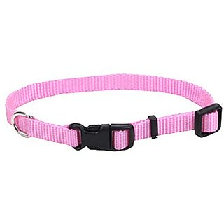 Coastal Pet Alliance Products 06301 A PKB12 Adjustable Collar, 3/8-Inch, Pink