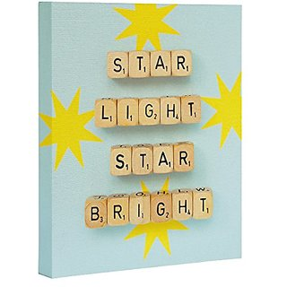 DENY Designs Happee Monkee Star Light Star Bright Art Canvas, 8