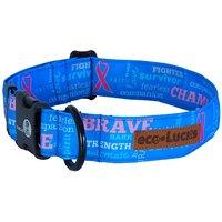 Eco-Lucks Dog Collar, Fearless Blue, Large 15 X 24