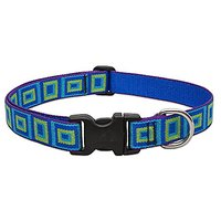 Lupine 1 Inch Sea Glass Adjustable Dog Collar For Medium And Large Dogs, 12 To 20-Inch