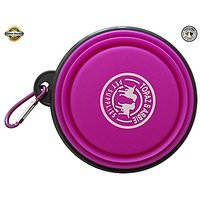 Travel Dog Bowl Collapsible BEST QUALITY By Topaz & Abbie - Premium Quality Pet Travel Bowl For Food & Water Bowls In Br