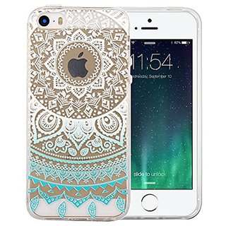 iphone 5S case, Aonear Totems iPhone 5 Cover Mint TPU Silicone Skin Case Cover Phone Case Case Bumper for iPhone (5SE/5/