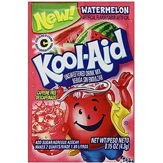 Kool-Aid Watermelon Unsweetened Soft Drink Mix, 0.15 Ounce