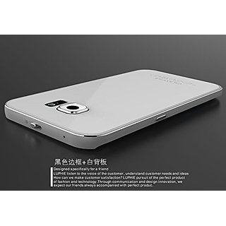 Gold_Sales Gold_Sales Ultra-thin Gorilla Glass Cool Luxury Metal Aluminum Case Cover for Samsung Galaxy S6 Edge (Silver+